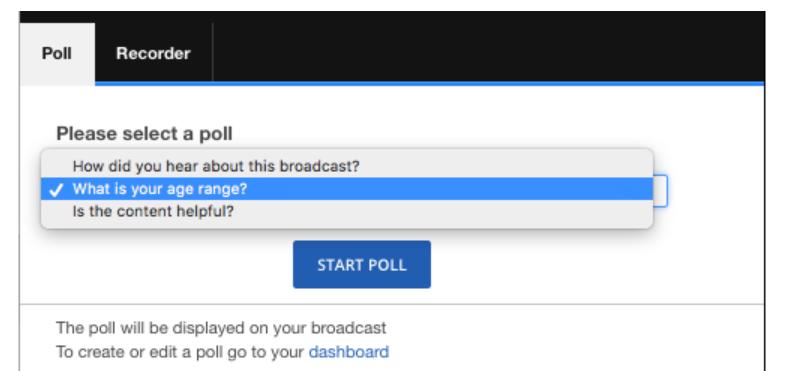 Polls for Live Broadcasting – IBM Watson Media