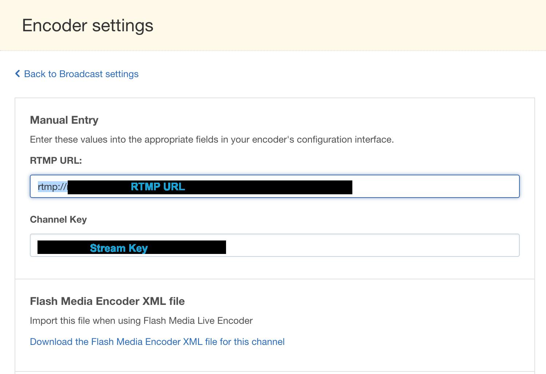 Enterprise Video Streaming - Broadcast Settings – IBM Watson