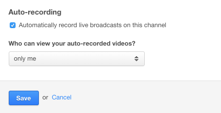 How can I record and save my live broadcast? – IBM Watson Media